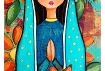 Madonas - Angeles - Folk Art