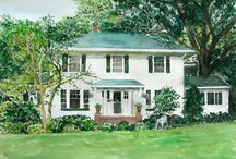 Houses Portraits / .........Amazing house painting....... / by Paint Your Life