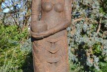 Hindoe tuinbeelden goden en godinnen