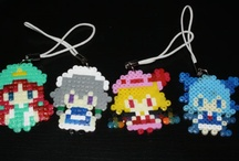 touhou perler beads keychains
