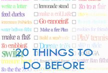20 Things to do before summer finishes! / 20 Things to do before summer finishes!