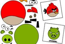 Angry Bird Early Learning Printables / Very few things on this planet can keep a child busy like a good physics engine, a couple of rotten pigs, and a few good-willed birds. Enjoy these printables and more at www.makinglearningfun.com. Enjoy!  / by Jo Kramer