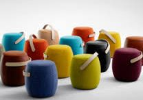 Modern upholstered stools