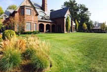 Sasco Farms Landscape Design, examples of gardens, designed by Yolac & Lloyd, / Fall colors.