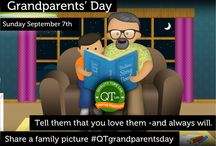Grandparent's Day / Sunday September 7th is Grandparents' Day. Tell them that you love them - and always will. Share a family picture and tag #QTgrandparentsday