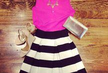 Skirt w stripes
