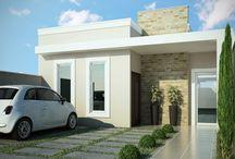 Casa sem telhado aparente