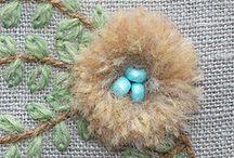 Wielkanoc - haft i szydełko