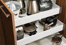 Espaço de armazenamento da cozinha