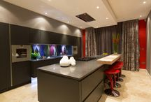 Lava Black Contemporary Kitchen by The Design Yard