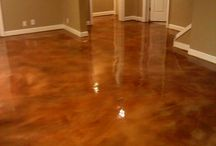 Acid concrete floors