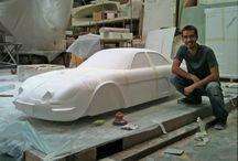 Usinage voitures et camions / Usinage des carrosseries des superbes voiturettes motorisées de M. Guy CHAPPAZ.