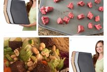 The flexible Chopping Board with sides
