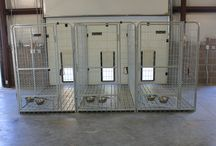 Inside / Outside Dog Kennels / Inside outside dog kennels will keep your dog warm and dry and enjoy the outside weather as well.