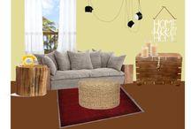 """A -B. SET """"ARTESANAL"""" / Ambiente con elementos rústicos o artesanales. Sencillos. Inspiración: pueblos mediterráneos, Ibiza, casas con porche, mimbre, cuerda, cerámica, cañas, madera, DIY (do it yourself)..."""