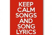 Keep calm songs and song lyrics