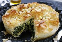 pie of greens and cheese blended greens