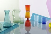 Colourful Handmade Glassware / In an age of mass production and somewhat anonymous products, these charming pieces have a very personal handmade feeling.   Each piece is hand crafted by a skilled artisan with no two are exactly alike. All the tiny air bubbles 'fizzing' away in each glass are created by adding soda to the mix when each piece is being blown.