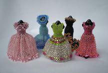 beads miniature dresses