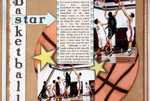Scrapbooking sports layouts.