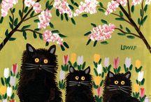 коты и весна