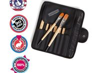 Hand Touched Crafts Student Artist Brush Set / Product Page for Hand Touched Crafts #Student #Artist #Paint #Brush Set, 12 x #golden #synthetic #paintbrushes for #watercolor, #acrylic, #oil, #mixed #media, #fabric #painting, #face painting, #nail gel etc. Check out our website - http://www.handtouchedcrafts.com