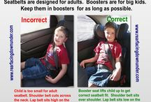 Info Graphics / Educational info on keeping kids safe in the car