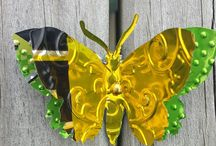 Recycled Can Butterflies / Gorgeous butterfly brooches and magnets, handmade from recycled aluminium cans