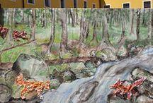 Tvorba Ateliéru Studánka / Od malých nákresů až po velké obrazy. Co všechno umí naši studenti Ateliéru Studánka.