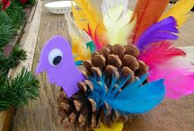 pine cone craft ideas / by Toni Towers
