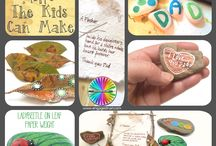 Fathers Day Crafts for Kids / Crafts which kids can make as gifts for Dad while supervised and helped by an adult.