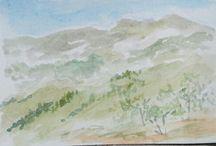 Barbara Reale Watercolor Artworks Aquarello / Barbara Reale Watercolor Artworks, Aquarelli di Barbara Reale, watercolors by Barbara Reale italian artist painter