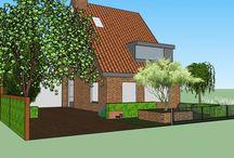 Ontwerpen met SketchUp. Garden design in Sketchup / Ontworpen door Greenthree tuinen. Gemaakt in en met SketchUp. http://www.greenthree.nl