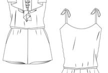 Technical fashion drawings