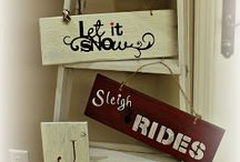 Christmas Wooden Signs