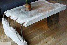 Concrete coffee table