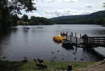 Pitlochry Loch Faskally / Beautiful Scottish Loch in the town of Pitlochry, Perthshire, Scotland