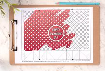 Valentine's Day Printables and Crafts / A collection of printables, coloring pages and craft activities for Valentine's Day.  Valentine's Day crafts | Valentine's Day printables | Free coloring pages | Free printables | Templates | Craft templates | Craft tutorials | School craft activities | Printable crafts for kids | Holiday crafts | Valentine's Day coloring pages