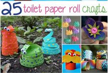 Craft with toilet paper roll
