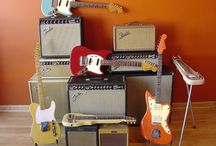 Fender Guitars / Fender guitars and amps are my favorite. Telecasters and Blues Junior amps get the job done nicely! / by Spencer Nordyke