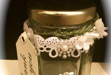 Wedding favours modern vintage style