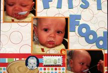 First foods scrapbook page