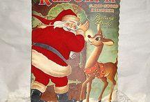 CHILDRENS GIANT BIG BOOK-1951-RUDOLPH-CUTE