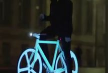 glow in the dark bike / Cycling @night