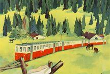 affiche chemin de fer
