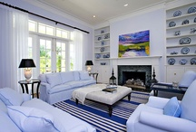 Blue and White Interiors / Sandra Morgan, ASID of Sandra Morgan Interiors is known for creating luxurious and distinctive interiors, that embodies her artistic sense of color, light and texture. This is especially true when she designs a room in blue and white - her go to colors.