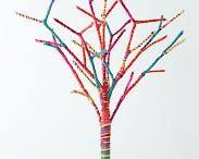 Tabletop Decor-Rainbow Rope Tree
