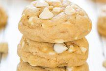Soft chewy white chocolate cream cheese cookies