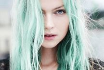 Rainbow Hair / Mint, Apricot and Rose - sweet hair in ice cream shades...