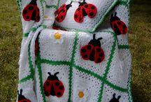 ladybug crochet afghans